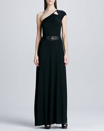 Emmanuella One-Shoulder Maxi Dress