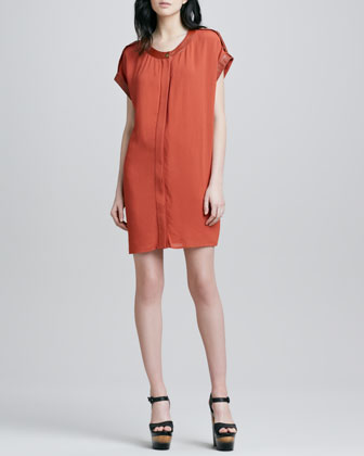 Reyna Cap-Sleeve Dress