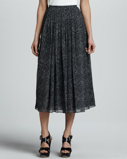 Michael Kors Herringbone Chiffon Dance Skirt