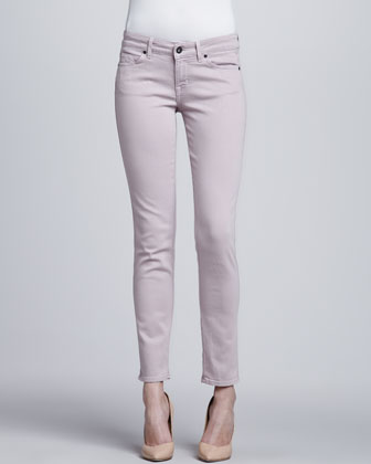 Skinny Ankle Peg Jeans, Lilac Lust