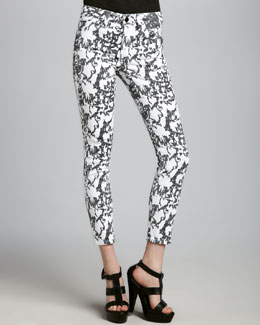 Joe's Jeans Sketch Print High Water Jeans