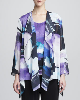 Dreamscape Printed Georgette Jacket
