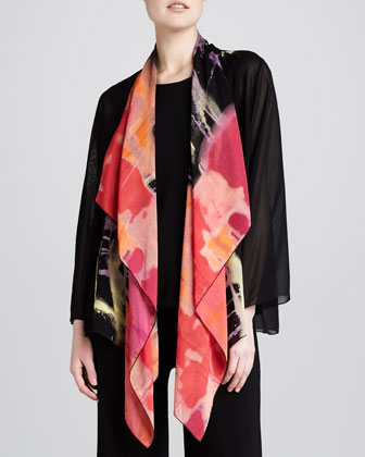 Waterfall Printed Georgette Jacket