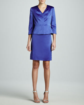 Three-Quarter-Sleeve Modern Skirt Suit
