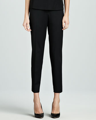 Astor Slim-Leg Cropped Pants