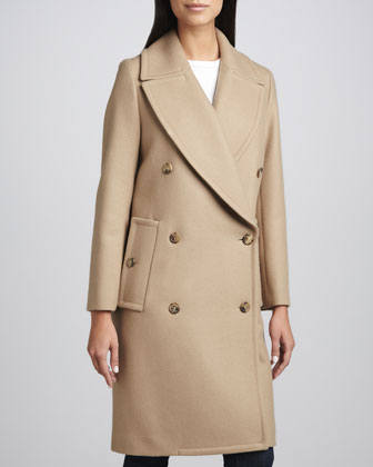 Melton Wool Double-Breasted Coat
