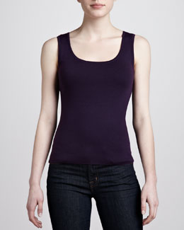 Michael Kors Cashmere Shell, Blackberry