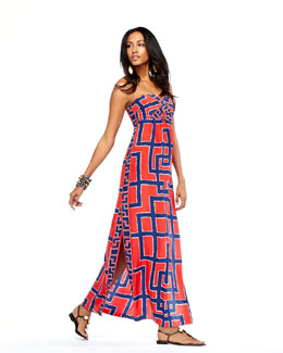 Alice & Trixie Ireland Strapless Maxi Dress