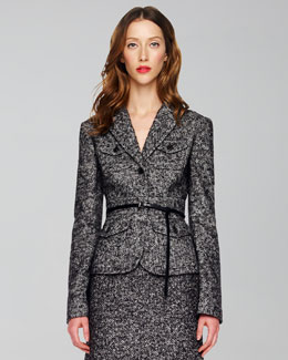 Michael Kors Herringbone Travel Jacket