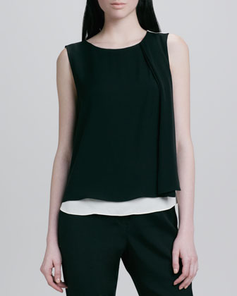 Colorblock Top with Drape