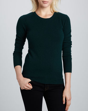 Crewneck Cashmere Sweater, Women's