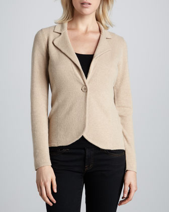 Cashmere Long-Sleeve Blazer, Women's
