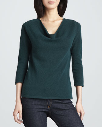 Cashmere Boat-Neck Sweater, Women's