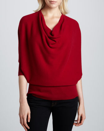 Oversized Cowl-Neck Cashmere Sweater