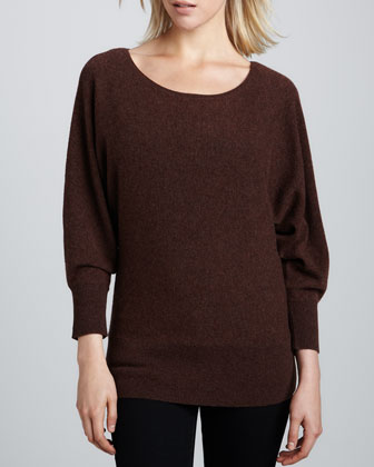 Oversized Dolman Cashmere Top