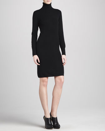 Turtleneck Cashmere Dress, Women's