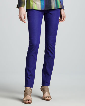 Purple Curvy Slim Jeans