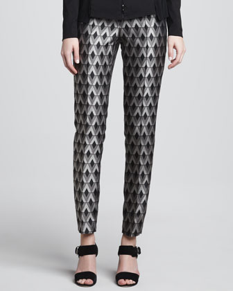 Geometric Skinny Pants
