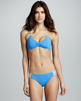 Strappy-Side Swim Bottom