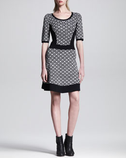 Rag & Bone Gabi Printed Sweater Dress