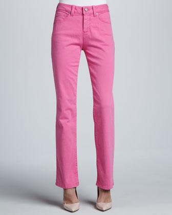 Katie Bright Straight-Leg Control-Panel Jeans