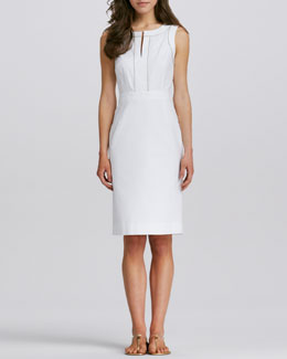 Tory Burch Zole Fitted Twill Dress
