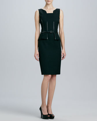 Belted Sleeveless Corset Dress