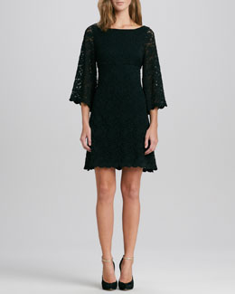 Alice + Olivia Baila Lace A-Line Dress