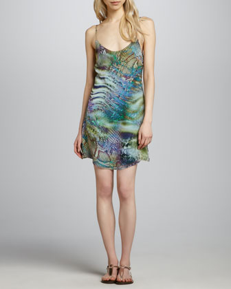 Julia Scale-Print Dress