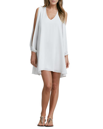 Gracie Slit-Sleeve Dress