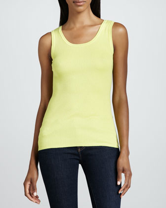Silk-Cashmere Tank Top