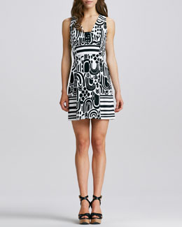 Nanette Lepore Striped Printed Dress