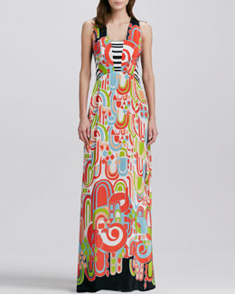 Nanette Lepore Marbella Printed Maxi Dress