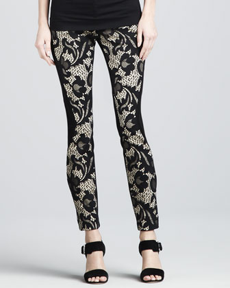 Harmony Paneled Lace Ankle Pants