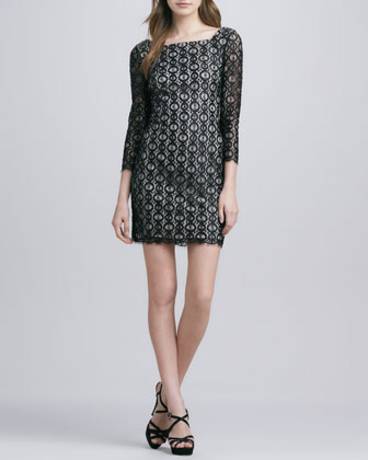 Zarah Beaded Lace Dress