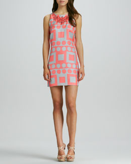 Milly Maggie Printed Sleeveless Dress