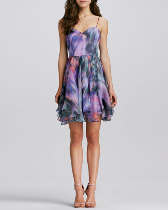 Gemma Printed Silk Dress