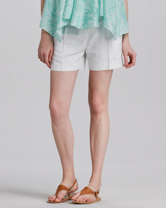 Side-Pocket Silk Shorts