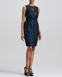 Carmen Marc Valvo Lace Cocktail Dress