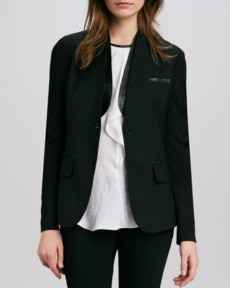 Blazer with Collar Insert