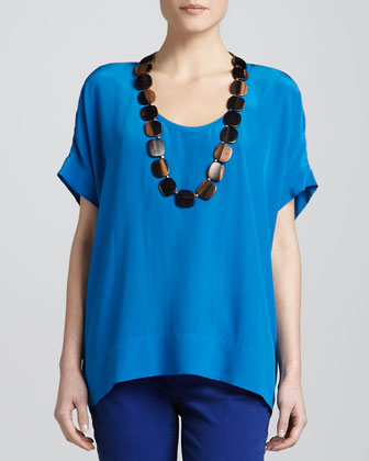 Silk Box Top, Petite