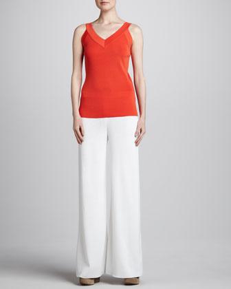 Inez Jacket, Sylvia V Neck Tank & Palazzo Pants, Women's