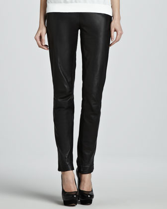 Perfitol Straight-Leg Leather Pants