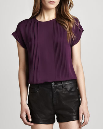 Sellida Pintucked Top