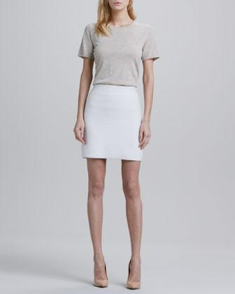 Holleen Ridged Pencil Skirt