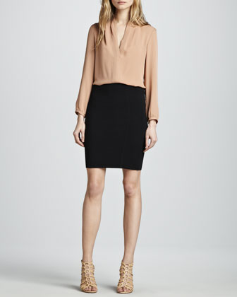 Brookelles Jersey Pencil Skirt