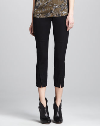 Double-Seam Twill Ankle Pants