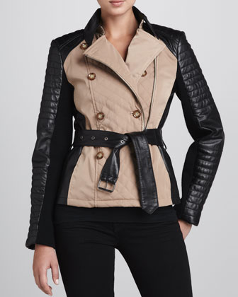 Colorblock Belted Jacket