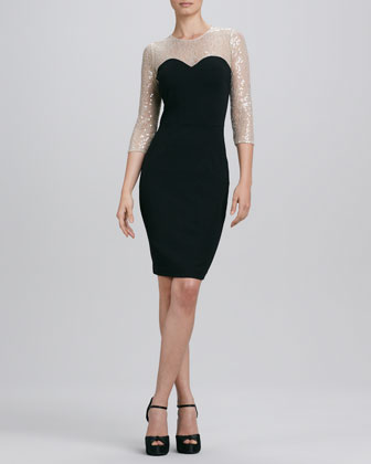 Illusion Lace Cocktail Dress