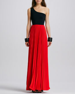 Alexis Zabrina Two-Tone Maxi Dress